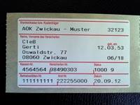 Etikett mit Formularkopf